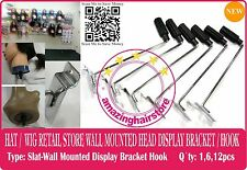 Styrofoam Head Holder Store Display Hook Hat Wig Retail Fixture Wall Mount-SLAT