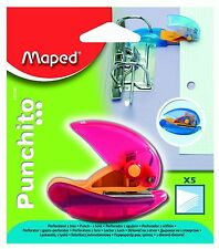 "MAPED HELIX ""PUNCHITO""  SMALL MINI SINGLE HOLE PUNCH - FITS INTO A RING BINDER!"