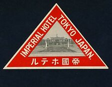 Imperial Hotel TOKYO Nippon Japan * Old Luggage Label Kofferaufkleber