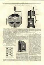 1894 Lyons Apparatus For Purifying Feedwater Miles Patent Factory Clock-in