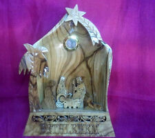 Olive wood Nativity scene Holy land, hand engraved Unique item EXCLUSIVE!!!!