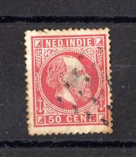 Netherlands Dutch Indies 1870s 50c Red Used X5524