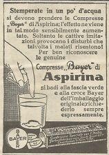 W8174 Compresse di Aspirina BAYER - Pubblicità 1926 - Advertising