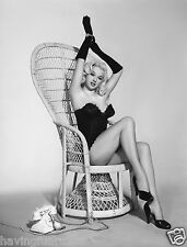 Diana Dors pin up in Wicker Chair Portrait 1950s  8 x 10  Photograph