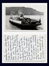 BRITISH COLUMBIA KELOWNA REAL PHOTO PENDOZI CAR FERRY LAKE OKANAGAN CIRCA 1945