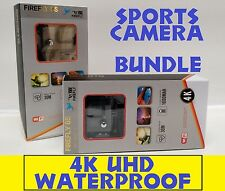 NEW Hawkeye Firefly 6S UHD SONY 4K WIFI Waterproof Sports Camera w/ GoPro BUNDLE