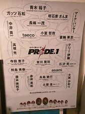 PRIDE FC 1 event poster - Speech Bubble design - B1 UFC MMA autograph card
