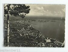 Postcard Trieste Italy 1955 to Clintonville, W.VA Real Photo Panarama Two Stamps