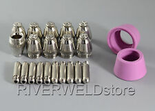 22PCS AG-60 SG-55 Plasma Cutting Cutter Consumables TIP1.0*10+Electrode*10+Cup*2