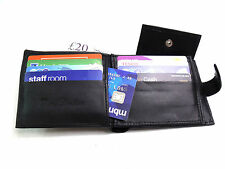MENS HIGH QUALITY REAL BLACK LEATHER WALLET CREDIT CARD HOLDER COIN POUCH PURSE