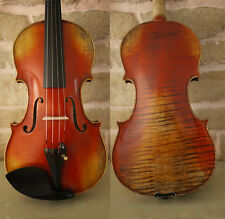 New Highly Flamed Stradivarius Violin 4/4 handmade Antiqued Style Varnish #428