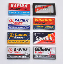SAMPLER SET 40 RAPIRA VOSKHOD GILLETTE ETC DOUBLE EDGE SAFETY RAZOR BLADES