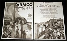 1921 OLD MAGAZINE PRINT AD, ARMCO, TYPE OF STORE WHERE PRODUCTS ARE SOLD, ART!