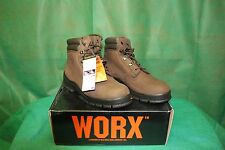 NWB  Mens Brown WORX by Red Wing Leather boots size 9. NEW IN BOX Insulated 400G
