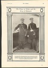 1900 THE PRINCE OF WALES AND THE KING OF DENMARK ROYALTY UNIFORMS