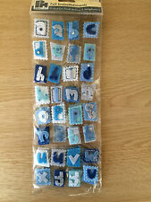 Papermania Blue Felt Alphabet Letters for Scrapbooking & Cardmaking