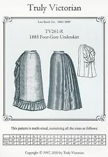 Schnittmuster Truly Victorian TV 261: 1885 Four-Gore Underskirt
