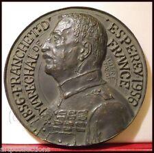 1956 MÉDAILLE BRONZE MARECHAL FRANCHET D'ESPEREY MARNE MACEDOINE 1914 1918
