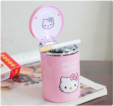 Cute Hello kitty Portable Car Auto Led Light Cigarette Ashtray Pink