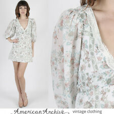 Vintage 70s Gunne Sax Dress Boho Wedding Hippie Prairie Floral Party Tunic Mini