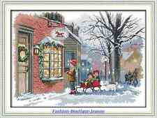 Kit broderie point de croix Christmas 14CT,Cross Stitch Kit, 52*39 cm EN STOCK