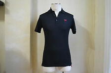 GIVENCHY COOL HDG LOGO MULTICOLOR RED WHITE BLACK STRIPED POLO SHIRT S S