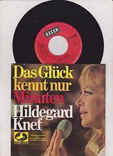 """7"""" KNEF, HILDEGARD  Das Glück kennt nur Minuten - Decca 42495 -"""