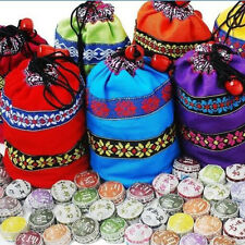 Hot Chinese YunNan 10 Kinds Flavor Pu Erh Tea In Bag Embroidered Chic Bags