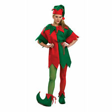 Elf Red & Green Tights Adult Costume Accessory Christmas Fashion