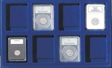 X2 Certified Coin Storage Display Trays Lighthouse Tab8Usk 8 Slabs Pcgs Ngc Free