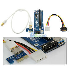 PCI-E 1X to 16X Straight Out Powered Riser Cable Bitcoin Litecoin Scrypt Mining