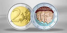 2 Euro Gedenkmünze 2011 Luxemburg Großherzog Jean FARBE