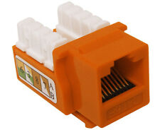 10x CAT3 Keystone Jack RJ11 Ethernet Phone Network Data Orange K53-148/90/OR