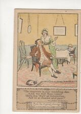 Randolph Caldecott Tomorrow Is Our Wedding Day Vintage Postcard 191b