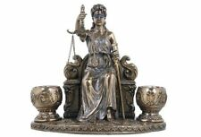 La Justicia Candle Holder Lady Justice Statue Greek Roman Goddess Rome Decor
