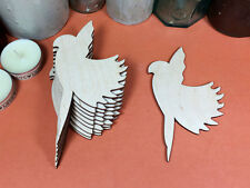 WOODEN PARROT FLYING  Shapes 12cm (x10) wood cutouts crafts blank shape