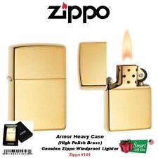 Zippo Armor Heavy Case Lighter, High Polish Brass #169