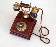 vintage rotary telephone siemens model post 113 wooden great condition
