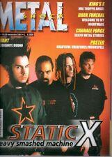 METAL SHOCK N°347/2001 STATIC X KING'S X DARK FUNERAL CARNALE FORGE