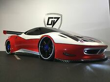 CUSTOM RC 1/8 KYOSHO FERRARI 458 ITALIA  TOURING  BODY SHELL,