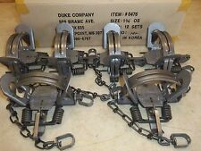 6 New Duke # 1 3/4 (1.75) OFFSET Coil Spring Traps  Raccoon Coyote Bobcat Fox