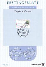 BRD 2012: Flugpost! Tag der Briefmarke! Ersttagsblatt der Nr. 2954! 1510