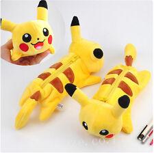 Pokemon Pikachu Felpa Estudiante Lápiz Caso Bolígrafo Pantalón Bolso