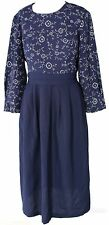 Women's MISS DORBY Navy Below Knee A-line Dress Size 12
