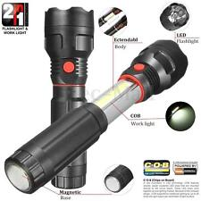 Retractable COB LED Magnetic Work Light Inspection Flashlight Lamp Hand Torch