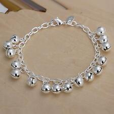 New Jewelry 925 Sterling Silver Loom Bands Bijoux Spherical Bell Bracelet Gift