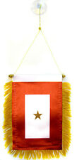"One Gold Star Service Mini Flag 4""x6"" Banner w/ suction cup"