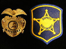 FREE KEYCHAIN PATCH Barney Fife Mayberry Cap Badge prop Andy Griffith Don Knotts