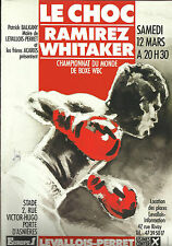 "1988 JOSE LUIS RAMIREZ vs PERNELL ""SWEET PEA"" WHITAKER [I] WORLD TITLE PROGRAMME"