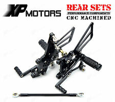 Adjustable Rearset Foot pegs Rear Sets For Triumph Daytona 955i 1999-2006 Black